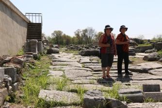 Helen & Judy on the Via Egnatia